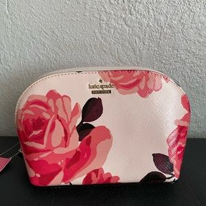 NWT Kate Spade Rose Cosmetic Bag